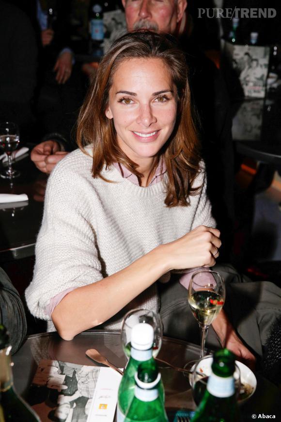 Mélissa Theuriau, invitée à la soirée organisée par le Fooding au Cirque d'Hiver.
