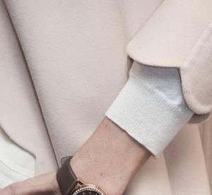 Inès Sastre et sa montre Frédérique Constant.
