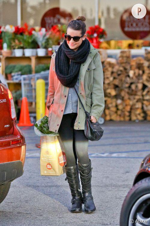 Lea Michele, un look d'hiver à copier !