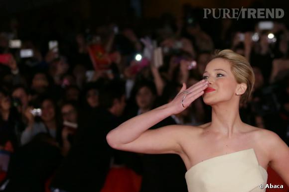 """Jennifer Lawrence nominée dans la catégorie """"meilleure actrice dans un second rôle"""" pour American Hustle."""