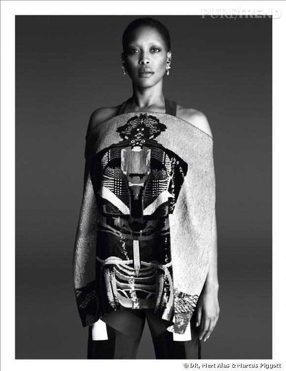 Erykah Badu, nouvelle égérie Givenchy pour le Printemps-Eté 2014.