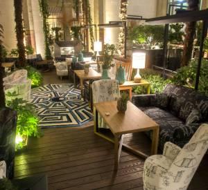 Le jardin d'hiver de l'hôtel Prince de Galles