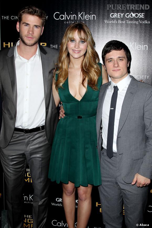 Jennifer Lawrence, ici en compagnie de Liam Hemsworth et Josh Hutcherson.