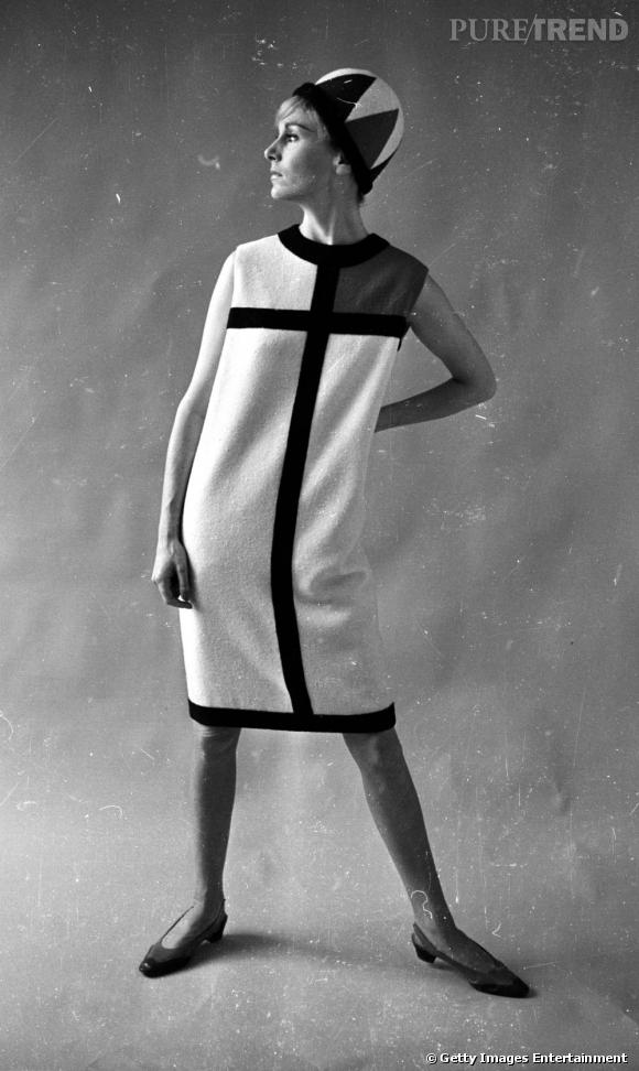 La robe Mondrian Yves Saint Laurent, 1966.