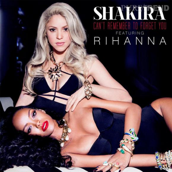 "Shakira et Rihanna dévoilent la pochette de leur duo, ""Can't remember to forget you""..."