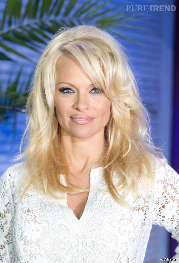 Pamela Anderson avec les cheveux longs.