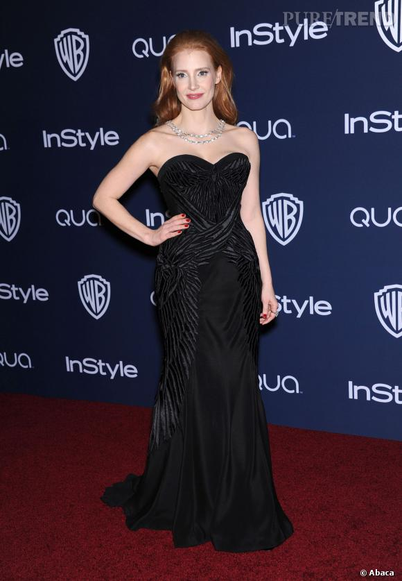 Jessica Chastain à l'after party InStyle des Golden Globes 2014.