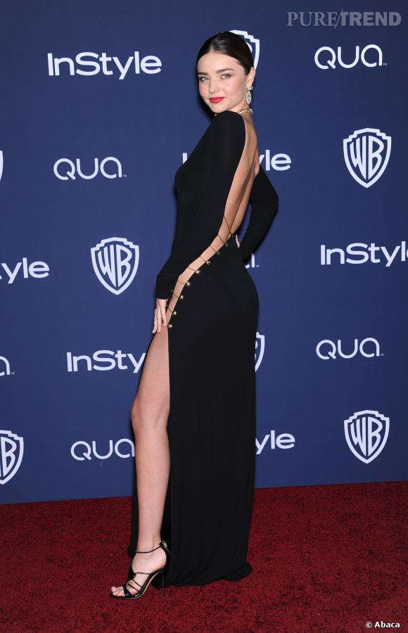 Miranda Kerr à l'after party InStyle des Golden Globes 2014.