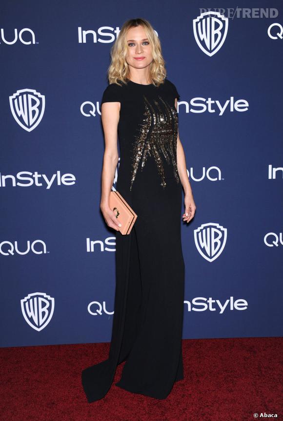 Diane Kruger à l'after party InStyle et Warner Brose des Golden Globes 2014.