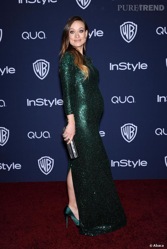 Olivia Wilde, enceinte à l'after party des Golden Globes 2014.