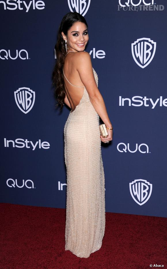 Vanessa Hudgens à l'after party InStyle des Golden Globes 2014.