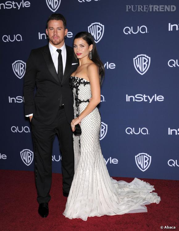 Channing Tatum et Jenna-Dewan Tatum à l'after party des Golden Globes 2014.