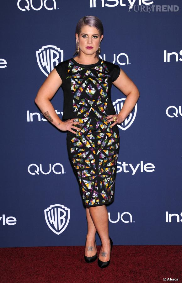 Kelly Osbourne à l'after party InStyle des Golden Globes 2014.