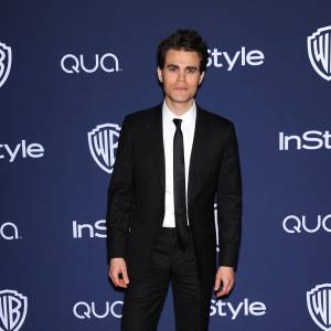 Paul Wesley à l'after party Warner Bros des Golden Globes 2014.