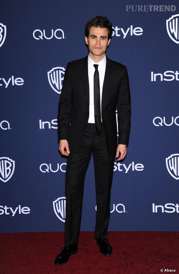 Paul Wesley à l'after party Warner Bros des Golden Globes 2014.