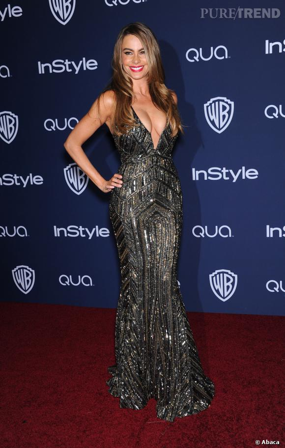 Sofia Vergara, prête à craquer à l'after party des Golden Globes 2014.