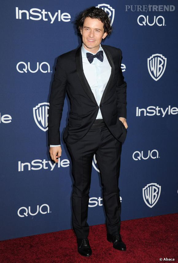 Orlando Bloom à l'after party InStyle des Golden Globes 2014.