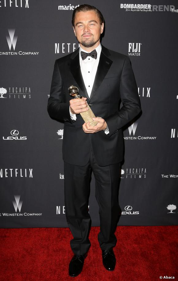 Leonardo DiCaprio à l'after party Weinstein Company et Netflix, pour les Golden Globes 2014.