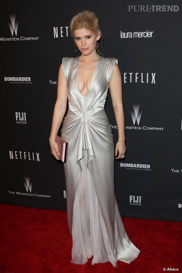 Kate Mara à l'after party Weinstein et Netflix des Golden Globes 2014.