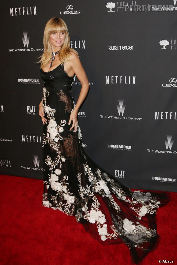 Heidi Klum à l'after party Weinstein et Netflix des Golden Globes 2014.