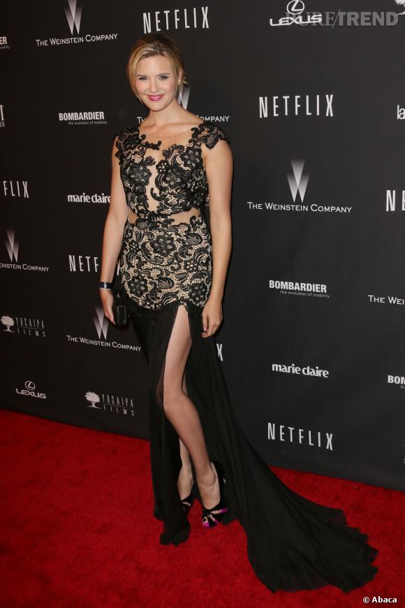 Maggie Grace à l'after party des Golden Globes 2014.