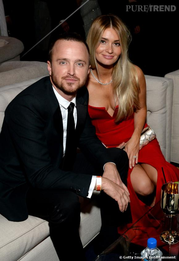 Aaron Paul et sa femme à l'after party Moët & Chandon des Golden Globes 2014.