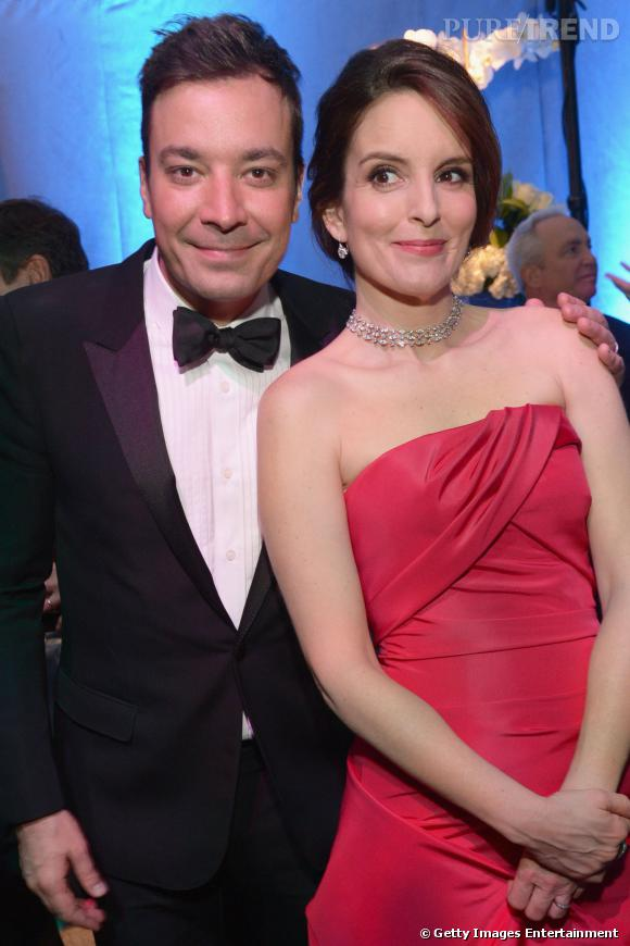 Jimmy Fallon et Tina Fey à l'after party NBC et Universal des Golden Globes 2014.