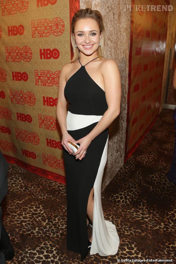 Hayden Pannetiere à l'after party HBO des Golden Globes 2014.