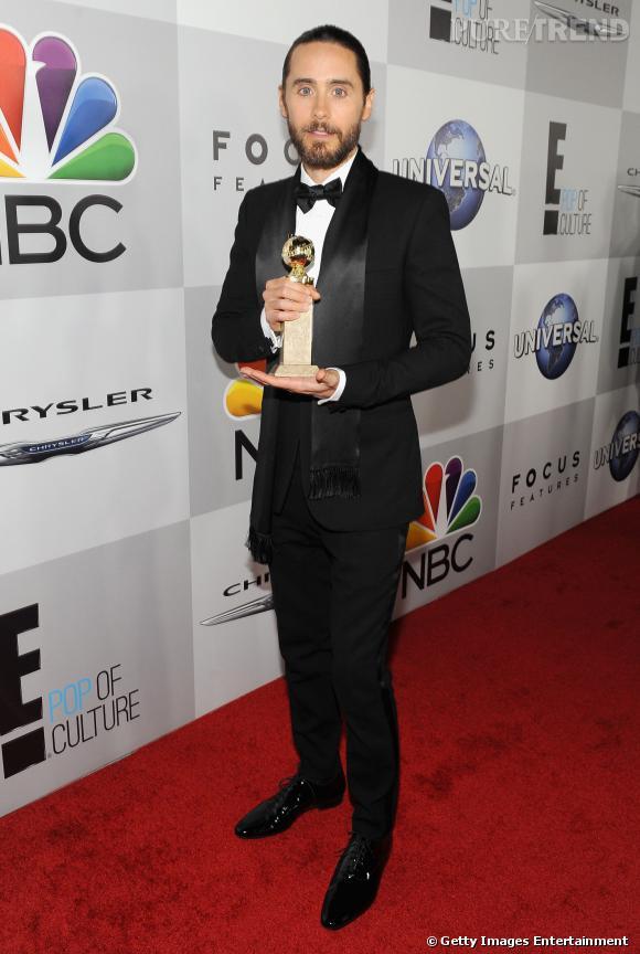 Jared Leto à l'after party NBC des Golden Globes 2014.