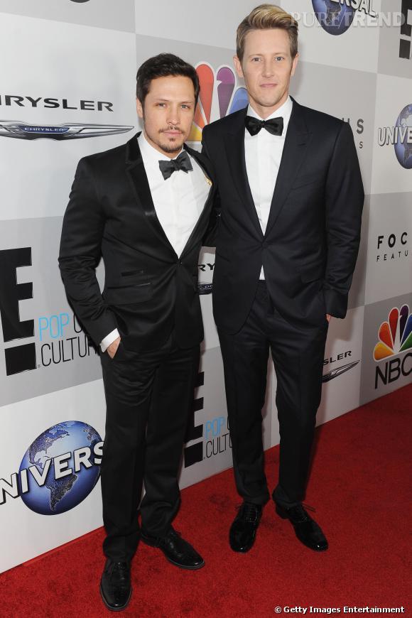 Nick Wechsler et Gabriel Mann  à l'after party NBC et Universal des Golden Globes 2014.