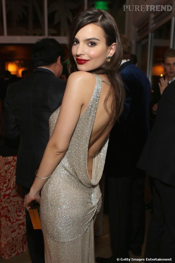 Emily Ratajkowski à l'after party HBO des Golden Globes 2014.