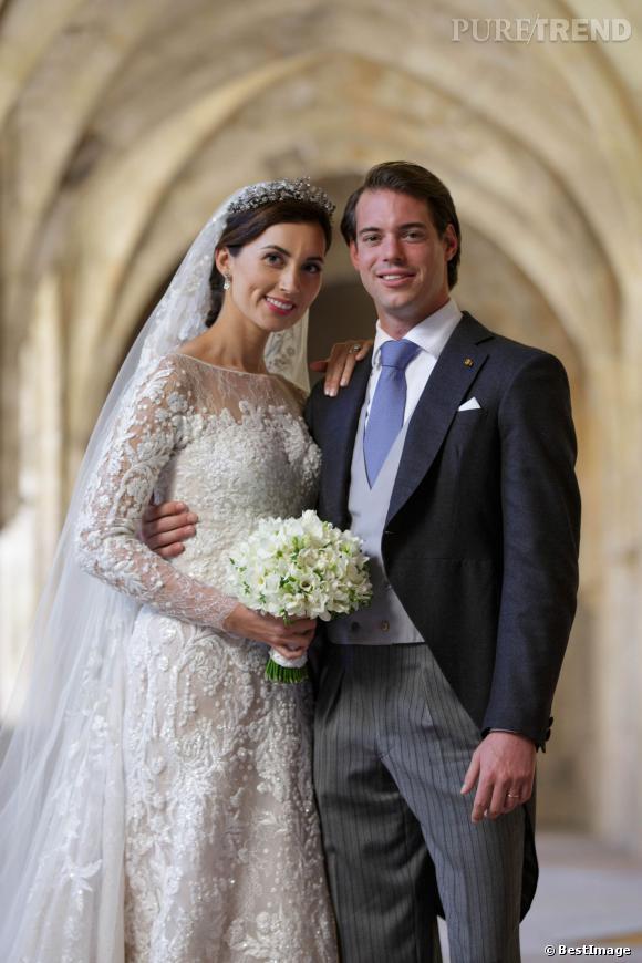 Claire et Felixe du Luxembourg, lors de leur mariage le 21 septembre 2013. Ils attendent leur premier enfant.