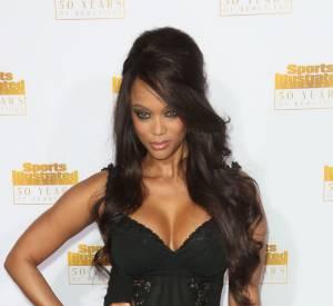 Tyra Banks très pin up et sexy pour l'évènement.