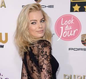 Margot Robbie, sexy en combinaison dentelle pour les CCMA 2014