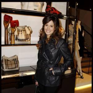 Lucie Lucas lors de l'événement Burberry Eyewear.