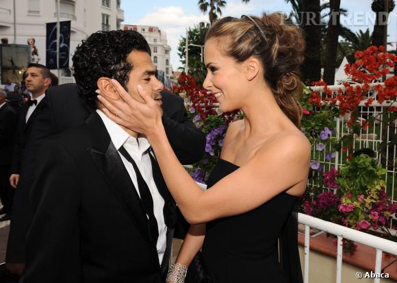 Mélissa Theuriau et Jamel Debbouze, un couple très amoureux au Festival de Cannes en mai 2010.