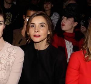 Clotilde Courau sur le front row d'Elie Saab, défilé Printemps-Eté 2014, le 22 janvier 2014.