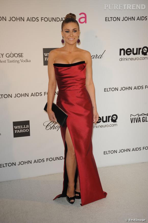 Carmen Electra à la soirée Elton John, le 24 février 2013.