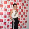 Cristina Cordula au 12ème Dîner du Sidaction au Pavillon d'Armenonville, le jeudi 23 janvier 2014.