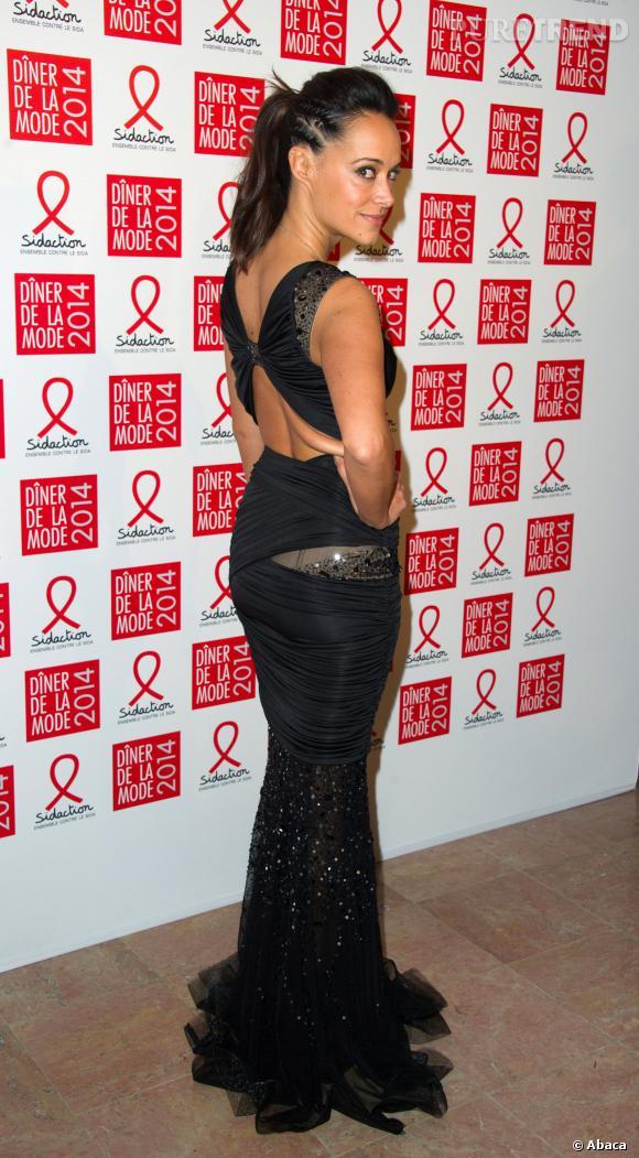Karine Lima au 12ème Dîner du Sidaction au Pavillon d'Armenonville, le jeudi 23 janvier 2014.