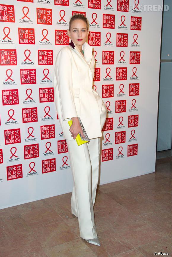 Leelee Sobieski au 12ème Dîner du Sidaction au Pavillon d'Armenonville, le jeudi 23 janvier 2014.