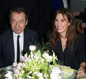 Michel Denisot et Doria Tillier au 12ème Dîner du Sidaction au Pavillon d'Armenonville, le jeudi 23 janvier 2014.