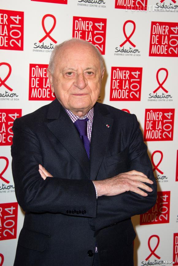 Pierre Bergé au 12ème Dîner du Sidaction au Pavillon d'Armenonville, le jeudi 23 janvier 2014.