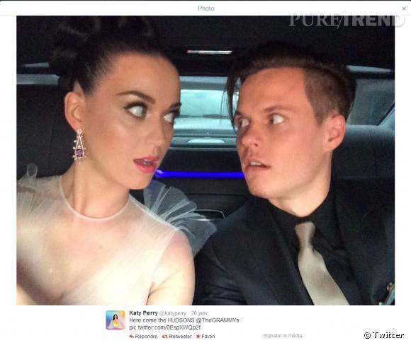 Katy Perry a posté une photo d'elle sur Twitter avant d'arriver aux Grammy Awards 2014.