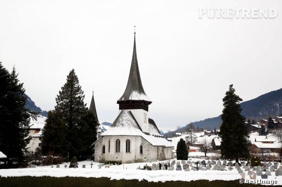 La petite église Saint-Nicolas-de-Myre de Rougemont à Gstaad où se déroulera la cérémonie.