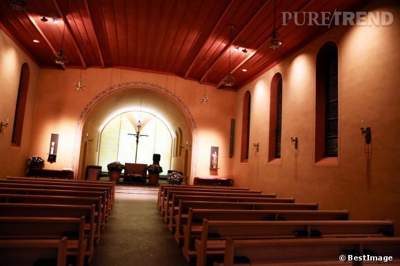 L'intérieur de l'église choisie par Andrea Casiraghi et Tatiana Santo Domingo.
