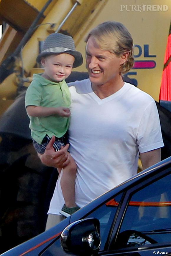 Owen Wilson et son premier enfant, Robert Ford, fruit de sa relation avec Jade Duell.
