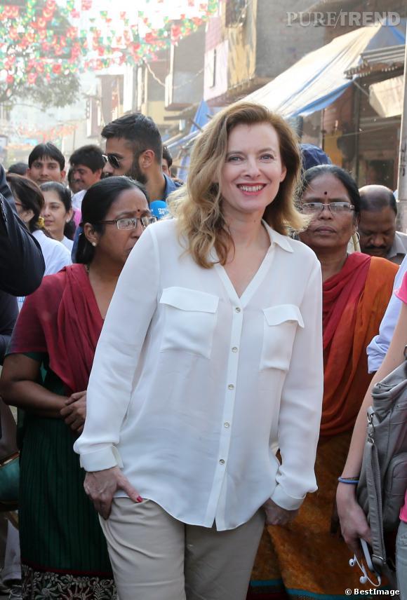 Valérie Trierweiler, en voyage en Inde.