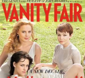 Abbie Cornish, Kristen Stewart, Carey Mulligan en couverture du Vanity Fair Hollywood Issue 2010.