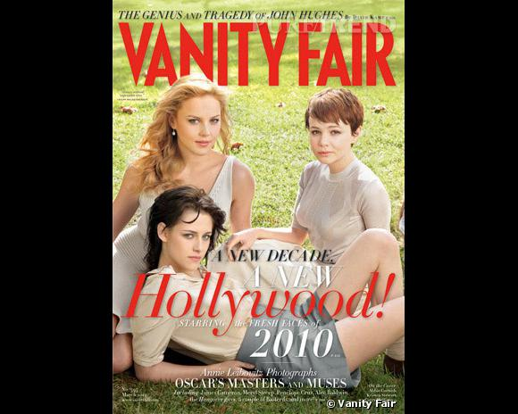Abbie Cornish, Kristen Stewart, Carey Mulligan en couverture du Vanity Fair Hollywood Issue 2010.